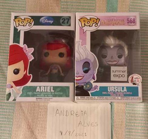 Funko pop Ariel e Ursula