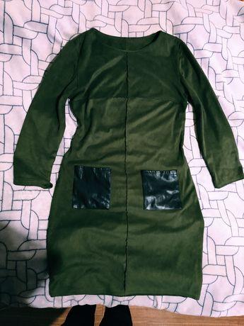 Замшева сукня