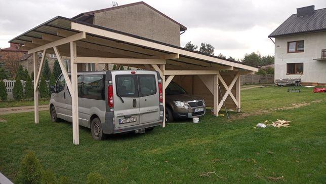Konstrukcja pod panele fotowoltaiczne - carport - wiata fotowoltaiczna