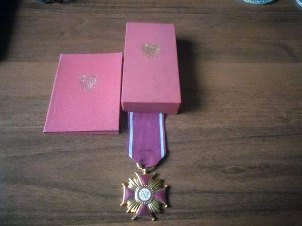 Złoty Krzyż Zasługi , z legitymacją- PRL.