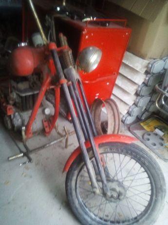 motocykl sam na bazie junaka z silnikiem fiat 126