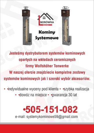 Komin systemowy ceramiczny - wysokość 7m K Fi 180/200 Standard