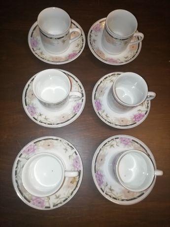 Serviço de café - 6 chávenas + 6 pires - 90ml