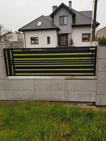 Przęsło ogrodzeniowe, ogrodzenie metalowe brama