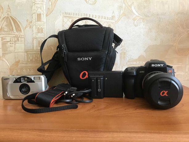 Фотоаппарат зеркальный Sony Alpha DSLR-A350 Kit 18-70, плюс подарок.