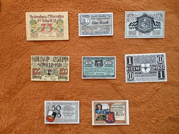 Osiem ciekawych banknotów - notgeldy.