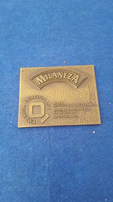 Medalha de bronze com publicidade á marca Milaneza