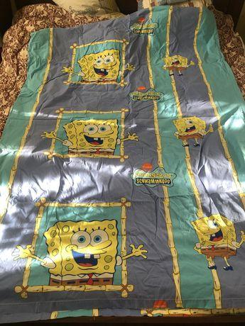 Пододеяльник спанч Боб/простынь/Sponge Bob