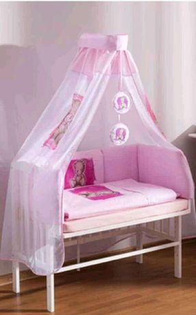 Mini łóżeczko drewniane, dostawka