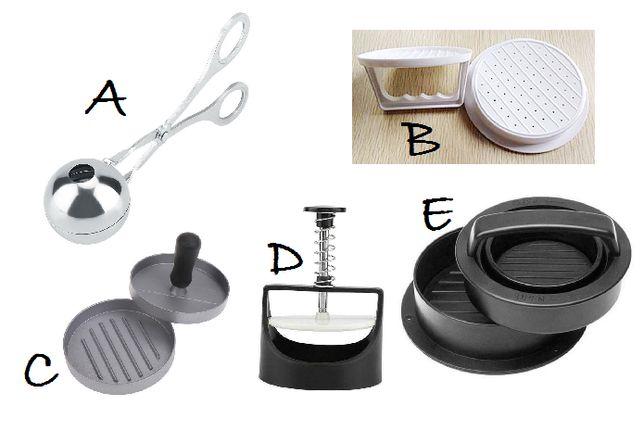 Forma hambúrguer / almôndegas / vários modelos / molde / cozinha NOVO