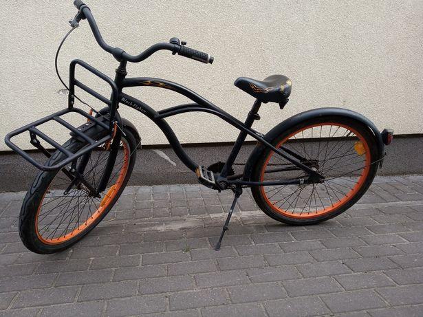 Rower holenderski, damka popal Black fighter, retro,vintage