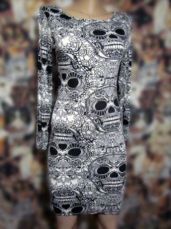 Платье по фигуре с черепами узорами boohoo мексиканский череп олдскул