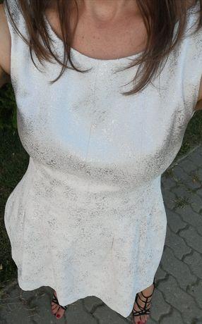 Piękna sukienka Zara 36, S, elegancka wizytowa jak NOWA