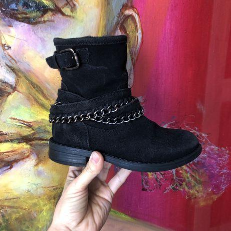 Ботинки, для девочки, замш, 31 размер, боты сапоги, демисезон