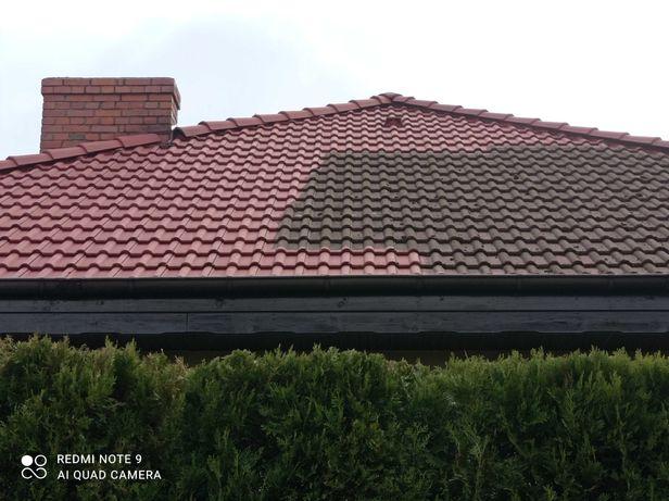 Mycie Dachów dachu Impregnacja Malowanie Dachów kostki wycinka drzew