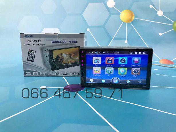 Стильная Автомагнитола Pioneer 7701/7702CM, Bluetooth, TF, USB!