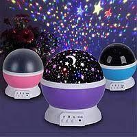 Детский ночник лампа проектор Star Master, шар звездное небо, луна