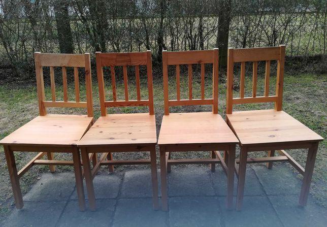 Krzesła lite drewno sosna.