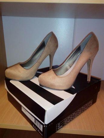 Туфли на каблуке бежевые женские