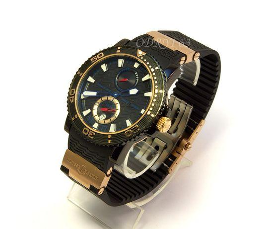 Часы мужские наручные механические Ulysse Nardin Blue Surf Gold