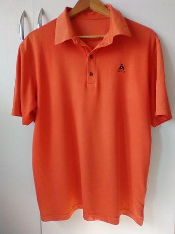 Pomarańczowa koszulka polo Odlo