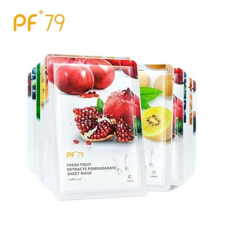 Маски для лица на тканевой основе фруктовые комплект из шести масок