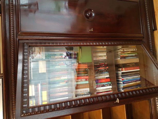 Wspaniała dębowa biblioteka do salonu do biura zabytkowa