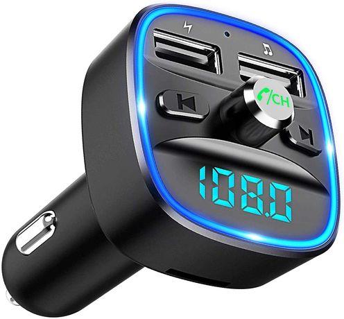 Transmissor FM Bluetooth para carro, sem fios MP3 USB cartões SD Novo