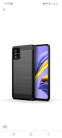 Samsung A51 etui case karbon pancerne etui