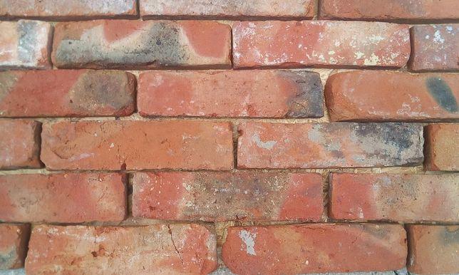 Cegła na ścianę, Płytki z cegły. Lica, Stara cegła, cegła cięta