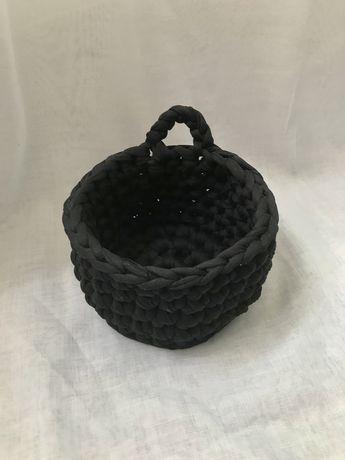 Cesto Organizador de Crochet com Alça Handmade