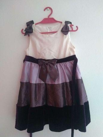 Śliczna sukienka bez rękawów z kokardą roz. 3T (98)
