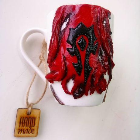 Чашка Warcraft варкрафт ручная работа из полимерной глины