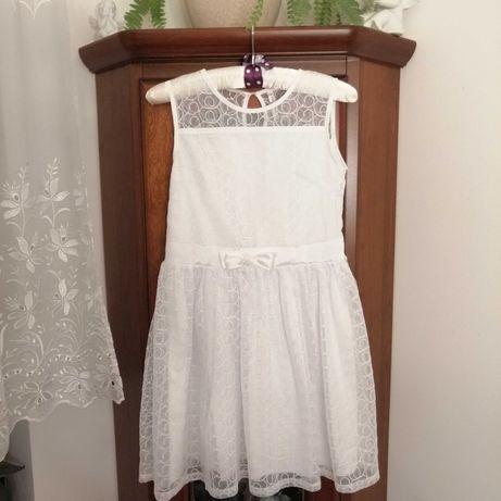 Sukienka biała Coccodrillo elegant rozmiar 146, komunia