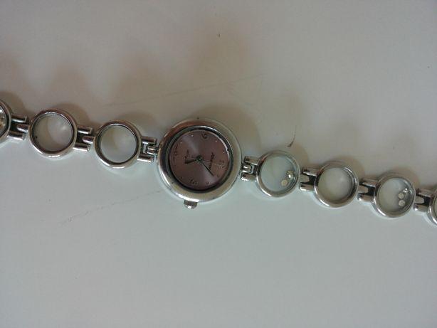 zegarek srebro szkiełka