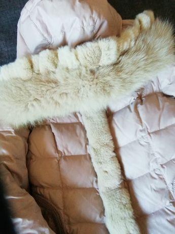 Пуховик, пальто с мехом песца, куртка, хутро,пуховік, леди,принцесса