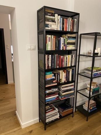Regał na książki szafka biblioteczka spawana czarna loft