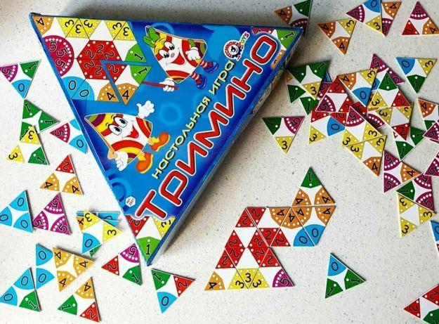Игра настольная развивающая Тримино от 2+, Дети в восторге.