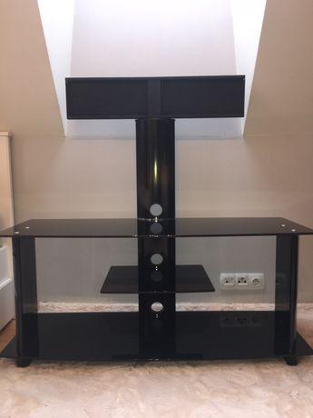 Szafka RTV, stojak na telewizor szkło hartowane czarny