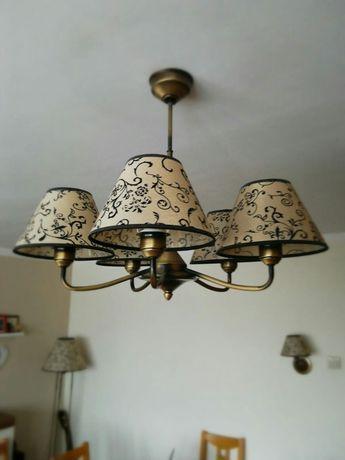 Komplet Lemir Aluna zestaw żyrandol lampa kinkiet Retro Vintage