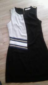 Sukienka czarno - biała