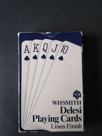 Talia brytyjskich kart Whsmith Delesi playing cards