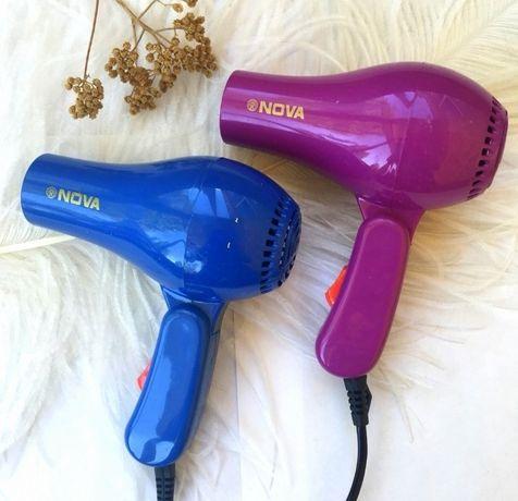 Фен для волос дорожный Nova 1000W со складной ручкой