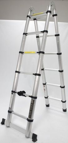 Escada Articulada, Alumínio, 6 + 6 Degraus, 3.80m - MADER® - NOVA