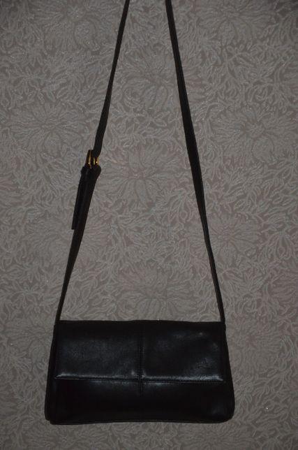 Кожаная сумка M&S на плечо