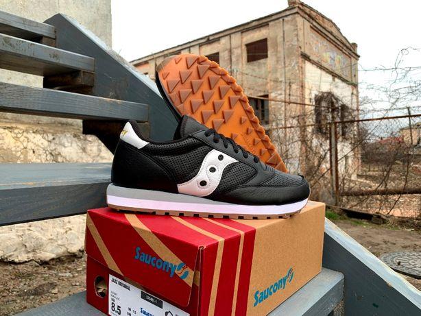 Мужские кожаные кроссовки Saucony Jazz Original Leather Black ОРИГИНАЛ