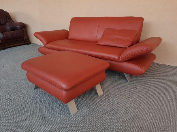 Шкіряний диван KOINOR з пуфом кожаный диван мягкая мебель
