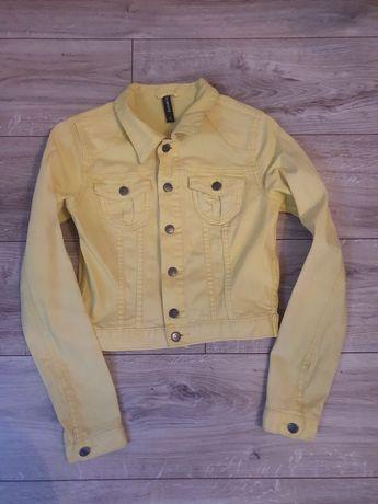 Katana/ kurtka jeans XS żółta