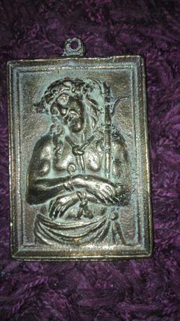 Antyk,XVIII/XIX wiek,brąz,cudowne wotum ubiczowanego Chrystusa