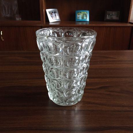 Новая хрустальная ваза (СССР) 14 х 11 см, крепкая